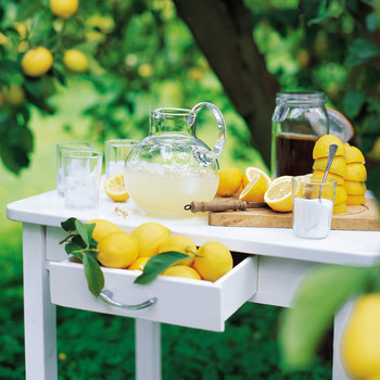 table with lemonade