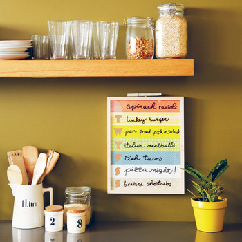 How to Make a Dry-Erase Board Menu