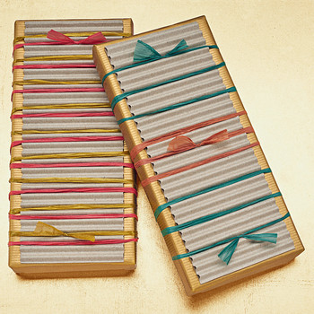 Raffia-Tied Gift Packaging