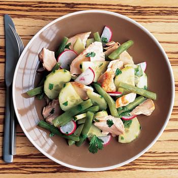 Salmon, Cucumber, and Green Bean Salad