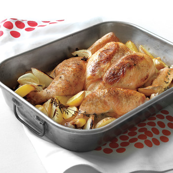 Spatchcocked Chicken with Potatoes