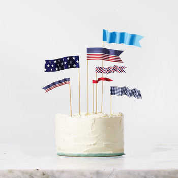 4th of July Flag Toppers
