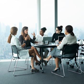 Women Working in an Office, Meeting