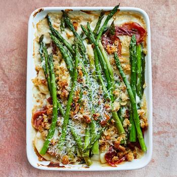 asparagus potato gratin