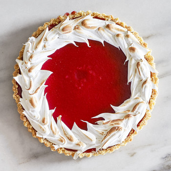 Cranberry-Meringue Tart