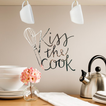cricut kitchen wall decal kiss the cook & Hanging Pictures u0026 Wall Art | Martha Stewart
