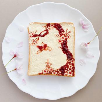 cherry blossom tree toast design manami sasaki