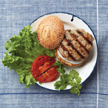 Chicken and Green Chile Burgers