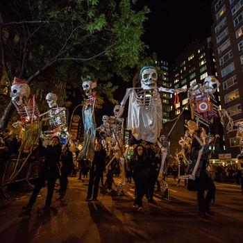 Greenwich Village Halloween Parade skeleton dance