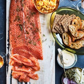 juniper and fin gravlax salmon