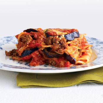 Light Beef and Eggplant Lasagna