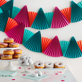 Easy, Festive Paper-Fan Bunting That's Perfect for Any Party