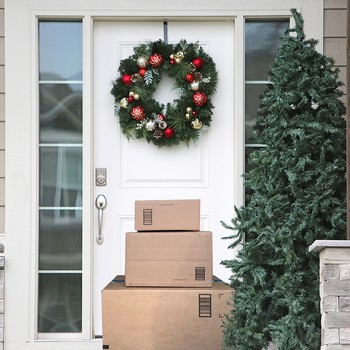 packages at front door