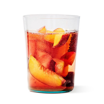 pink sangria glass drink fruit