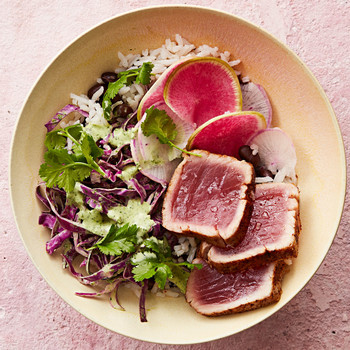 purple power tuna bowl