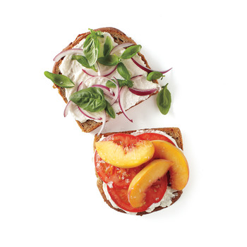 Peach, Tomato, and Ricotta Sandwich
