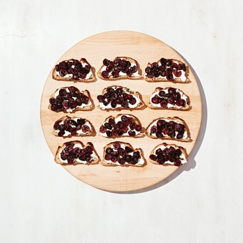 Cherry and Goat Cheese Bruschetta