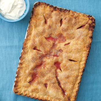 Strawberry-Rhubarb Slab Pie
