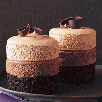 Triple-Chocolate Mousse Cakes
