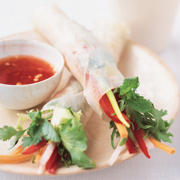 Easy Vegetarian Summer Rolls