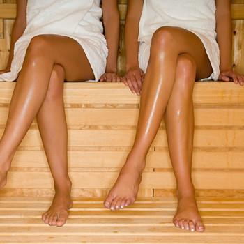 women legs sauna