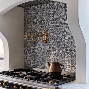 Patterned Backsplash in Kitchen
