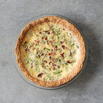 Bacon and Scallion Quiche