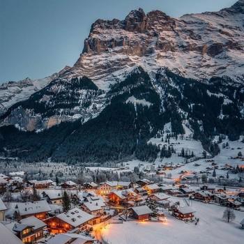 Village in the Bernese Swiss Alps
