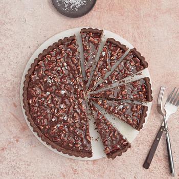 chocolate caramel pecan tart