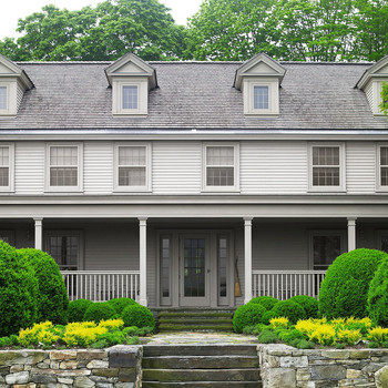 exterior of farmhouse before
