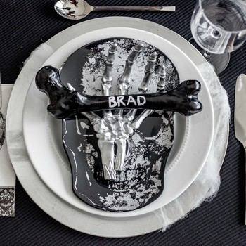 Halloween skeleton dinner party