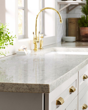 home depot quartz corian kitchen countertop & Home Depot: Quartz and Corian Countertops | Martha Stewart