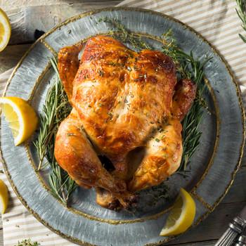 Homemade Rotisserie Chicken with Lemons