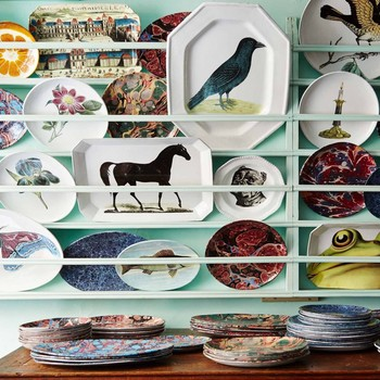 Decoupage plates home decor