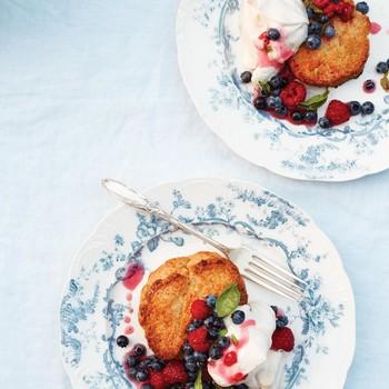 Lemon Shortcakes with Basil Berries