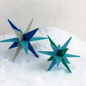 3-D Glitter Holiday Star
