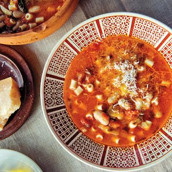 Pasta e Fagioli with Borlotti Beans