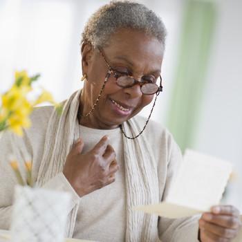 senior woman ready feel-good letter