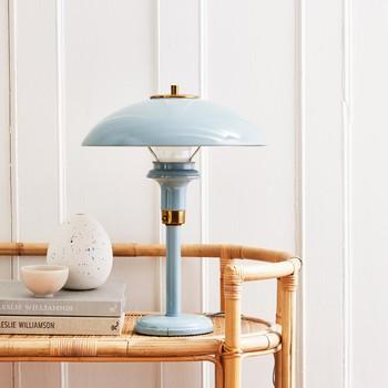 spray painted metal lamp
