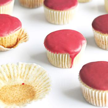Vanilla Cupcakes with Fruit Glaze
