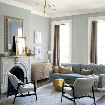 Benjamin Moore Metropolitan Swatch In Living Room