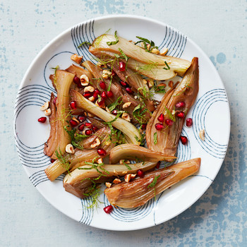 Braised Fennel with Pomegranate