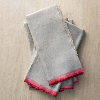 Dip-Dyed Linen Napkins