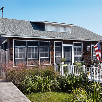 exterior of fire island beach front cottage
