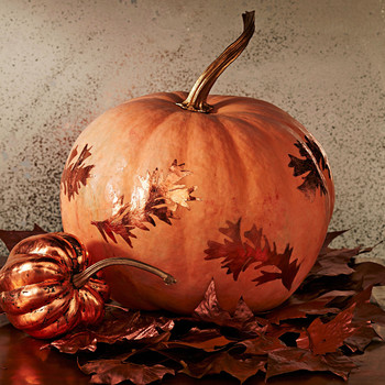 foiled pattern pumpkin