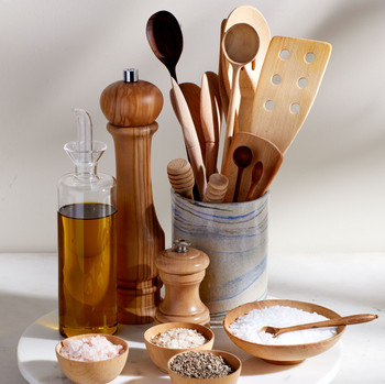Lazy Susan with Cooking Tools