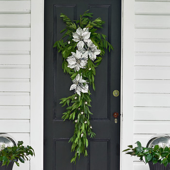 poinsettias door hanging
