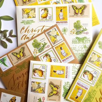 yellow stamps