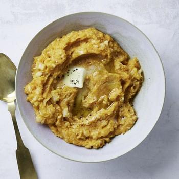 sweet potato cauliflower mash