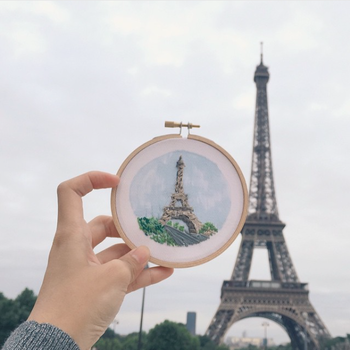 Teresa Lim embroidery from her Sew Wanderlust series